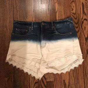 Free People tonal Jean shorts size 28